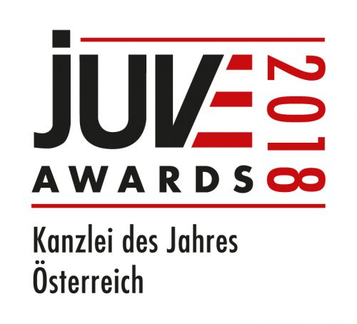 Referenz   Haslinger / Nagele, Logo: JUVE Awards
